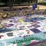 Gioco dell'oca nel parco, festa dove i bambini nono le pedine del gioco dell'oca! fai diverire i tuoi bambini con questo must (3)